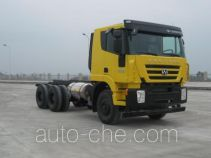 SAIC Hongyan CQ3256HTG38-474TB dump truck chassis