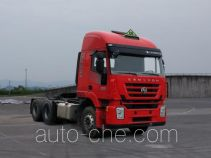 SAIC Hongyan CQ4256HTDG334U dangerous goods transport tractor unit
