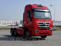 SAIC Hongyan CQ4256HXVG334U dangerous goods transport tractor unit
