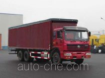 SAIC Hongyan CQ5254XXYTPG384P soft top box van truck