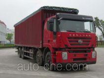 SAIC Hongyan CQ5314XXYHMG466P soft top box van truck