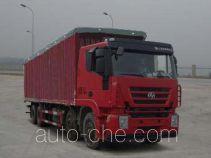 SAIC Hongyan CQ5315CPYHTG466V soft top box van truck