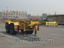CIMC Liangshan Dongyue CSQ9350TWY dangerous goods tank container skeletal trailer