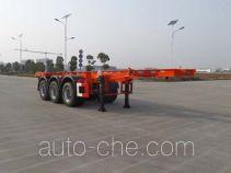 JAC Yangtian CXQ9403TWY dangerous goods tank container skeletal trailer