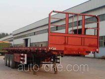 华威翔运牌CYX9404ZZXP型平板自卸半挂车