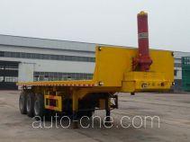 华威翔运牌CYX9402ZZXP型平板自卸半挂车