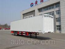 Huanghai DD9320XYK wing van trailer