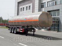 黄海牌DD9400GYYA型铝合金运油半挂车