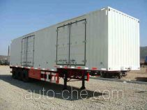 Huanghai DD9401XXY box body van trailer