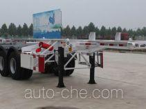 齐鲁中亚牌DEZ9350TWY型危险品罐箱骨架运输半挂车