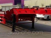 齐鲁中亚牌DEZ9400TDP型低平板半挂车
