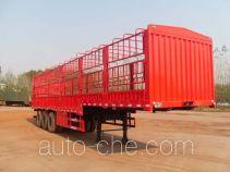 齐鲁中亚牌DEZ9404CCYA型仓栅式运输半挂车
