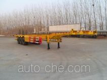 齐鲁中亚牌DEZ9401TJZ型集装箱运输半挂车