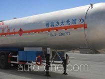 大力牌DLQ9401GYQX型液化气体运输半挂车