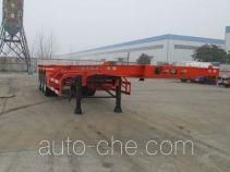 Dali DLQ9401TWY dangerous goods tank container skeletal trailer