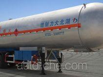 大力牌DLQ9403GYQS型液化气体运输半挂车
