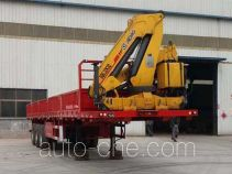 Xinkaida DLZ9400JSQ flatbed trailer mounted loader crane