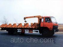 Yetuo DQG5240TYB oil pump transport crane truck