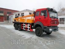 Auger anchor truck