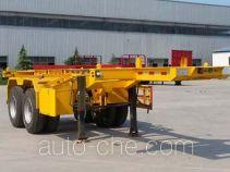 沃顺达牌DR9350TJZ型集装箱运输半挂车