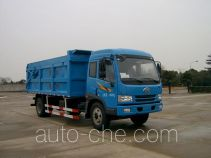 Enclosed body garbage truck