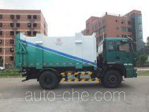 Back loading garbage truck
