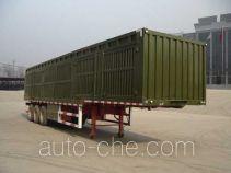 斯派菲勒牌GJC9404XXY型厢式运输半挂车