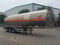 Changhua HCH9401GRYHB flammable liquid aluminum tank trailer