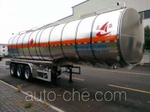 Changhua HCH9406GRY flammable liquid aluminum tank trailer