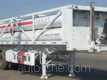 Hydraulic pressure gas long cylinder refueling trailer
