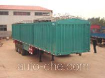 Soft top box van trailer