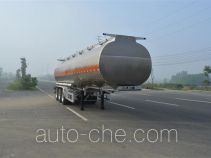 Foton Auman HFV9401GRYA flammable liquid aluminum tank trailer