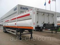 High pressure gas transport trailer