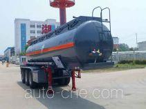 Zhongqi Liwei HLW9407GFW corrosive materials transport tank trailer