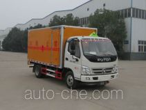 CHTC Chufeng HQG5070XRQ4BJ flammable gas transport van truck