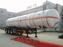 Hongtu HT9401GRY1 flammable liquid tank trailer
