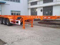 Hongtu HT9404TWY dangerous goods tank container skeletal trailer