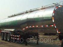 Liquid food transport tank trailer
