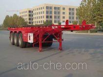 红宇牌HYJ9400TWY型危险品罐箱骨架运输半挂车
