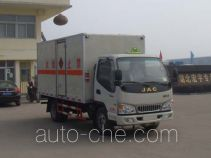 Hongyu (Hubei) HYS5040XRQH4 flammable gas transport van truck