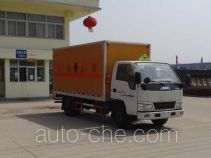 Hongyu (Hubei) HYS5040XRY4 flammable liquid transport van truck