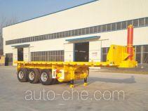 华鲁业兴牌HYX9370ZZXP型平板自卸半挂车