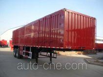 Kelier HZY9351XXY box body van trailer