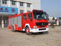 Jiangte JDF5190GXFAP70Z пожарный автомобиль тушения пеной класса А