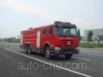 Jiangte JDF5314GXFPM160 foam fire engine