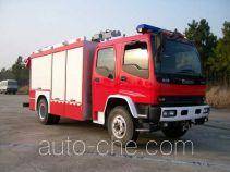 海盾牌JDX5130TXFJY98W型抢险救援消防车