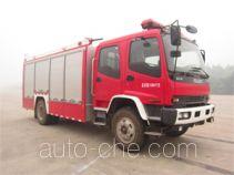 Haidun JDX5150GXFAP50/W пожарный автомобиль тушения пеной класса А