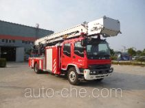 海盾牌JDX5150JXFYT30型云梯消防车