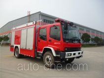 海盾牌JDX5150TXFGF30/W型干粉消防车