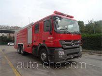 海盾牌JDX5320GXFSG160/B型水罐消防车